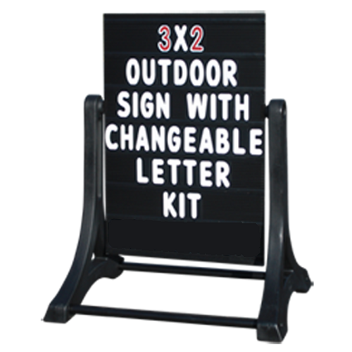 Black Swinger Frame with Changeable Letters