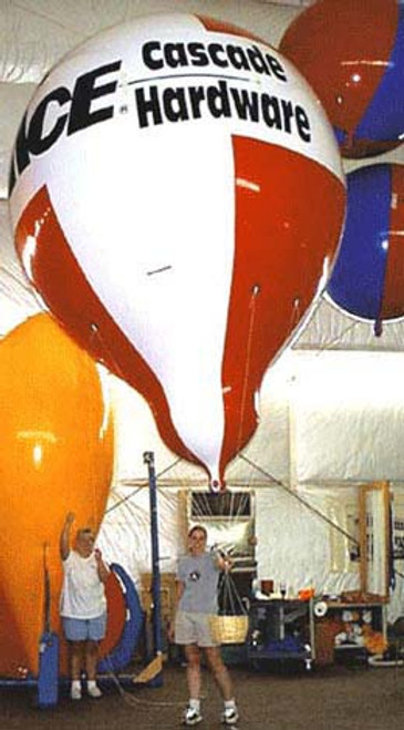 Custom 13.5ft Hot Air Shape with Artwork 2 Sides