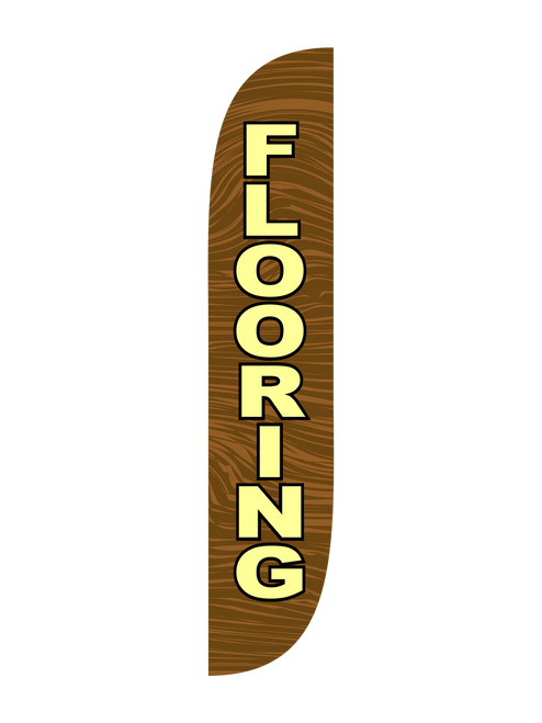 12ft Flooring Feather Flag Wood Brown
