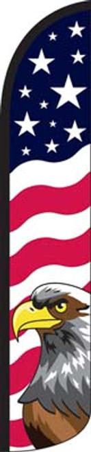 Stars & Bars Eagle Wind-Free Feather Flag