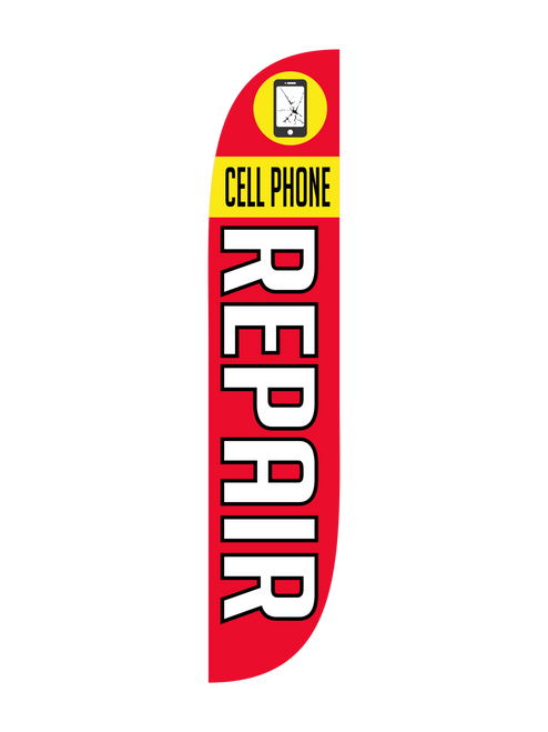 Cell Phone Repair Feather Flag
