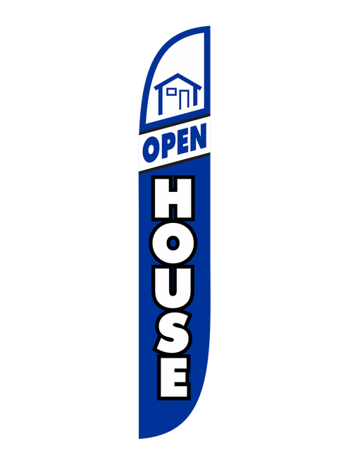 Open House Feather Flag Blue