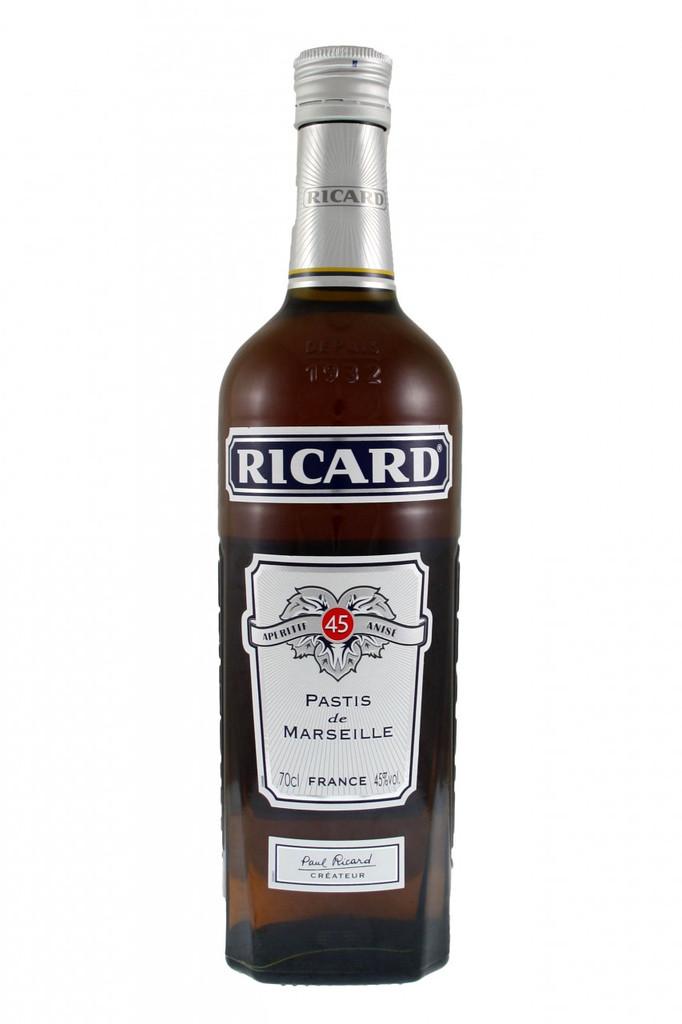 Ricard Apéritif 45 Anisé. Pastis de Marseille.