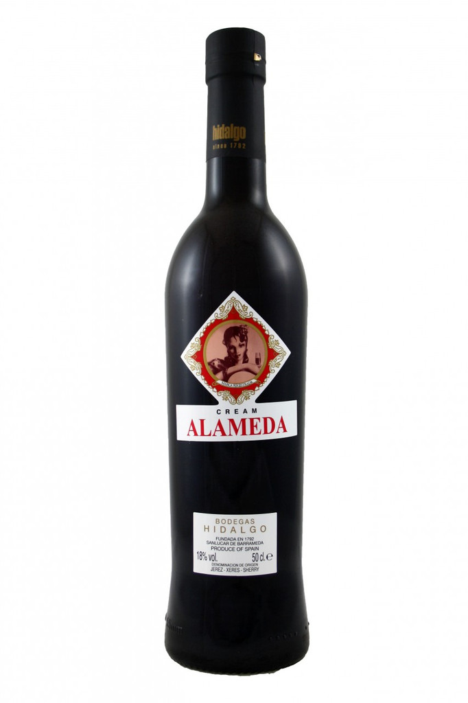 'Alameda' is the central plaza in Sevilla, it is here that young women are said to walk in the early evening in hope of attracting the attention of suitors. Oloroso Abocado Alameda is a mix of old Olorosos and sweeter wines made from Pedro Ximenez, which are aged for several years in soleras of American oak. It is off-dry.