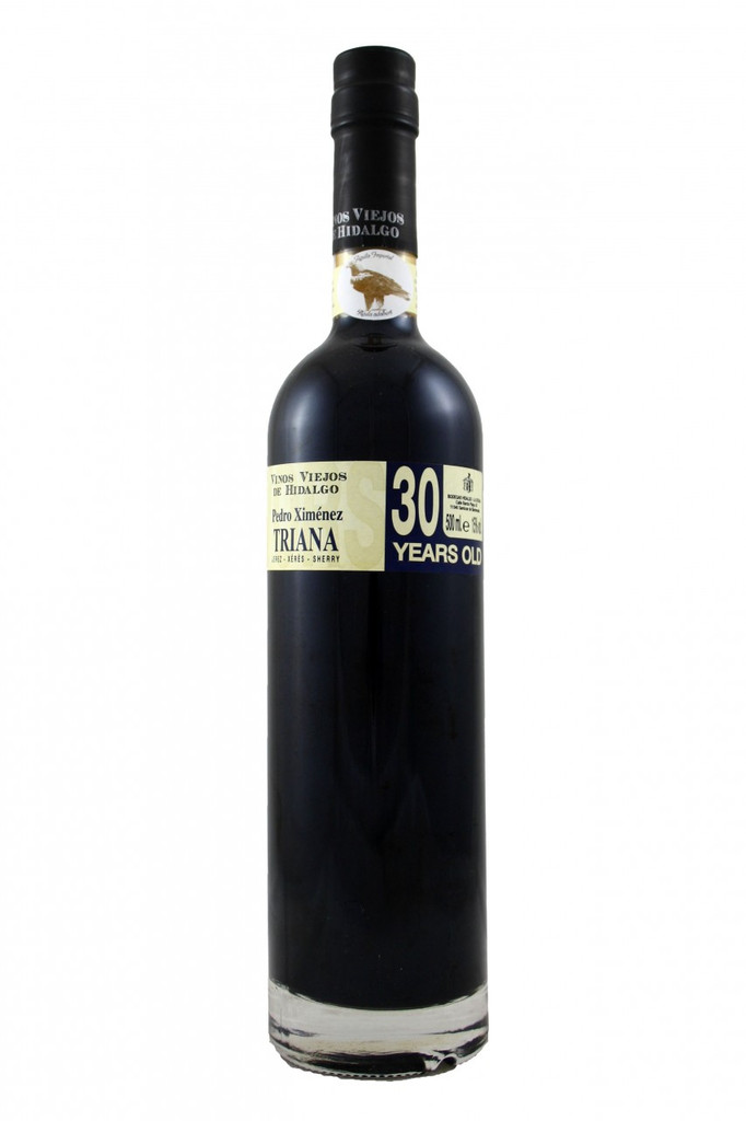 A wine from the Pedro Ximenex grapes which are first left in the sun to become raisins before pressing. Aged for more than 30 years in the solera system. Matured in butts of American oak, using the oxidative ageing process for over 30 years, to give the wine its complexity and the concentration of aromas and full rich nutty flavours. Before bottling, the wine is stabilised using a cold treatment process and filtered.