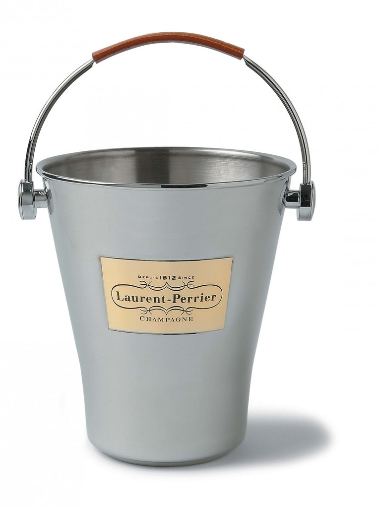 Ice Bucket with Leather Handle