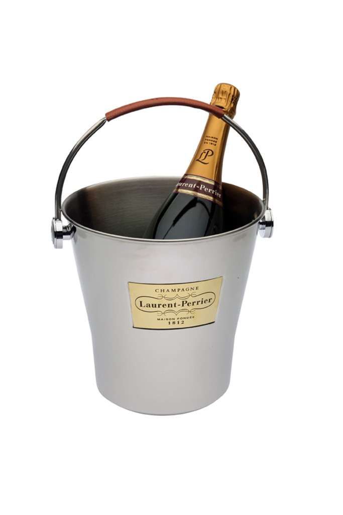 Magnum Ice Bucket with Leather Handle (Champagne Not Included)