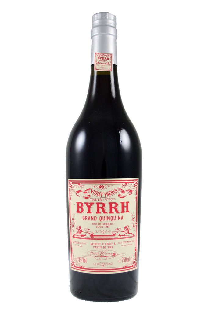 Byrrh is traditionally served as an aperitif, chilled with a slice of lemon.