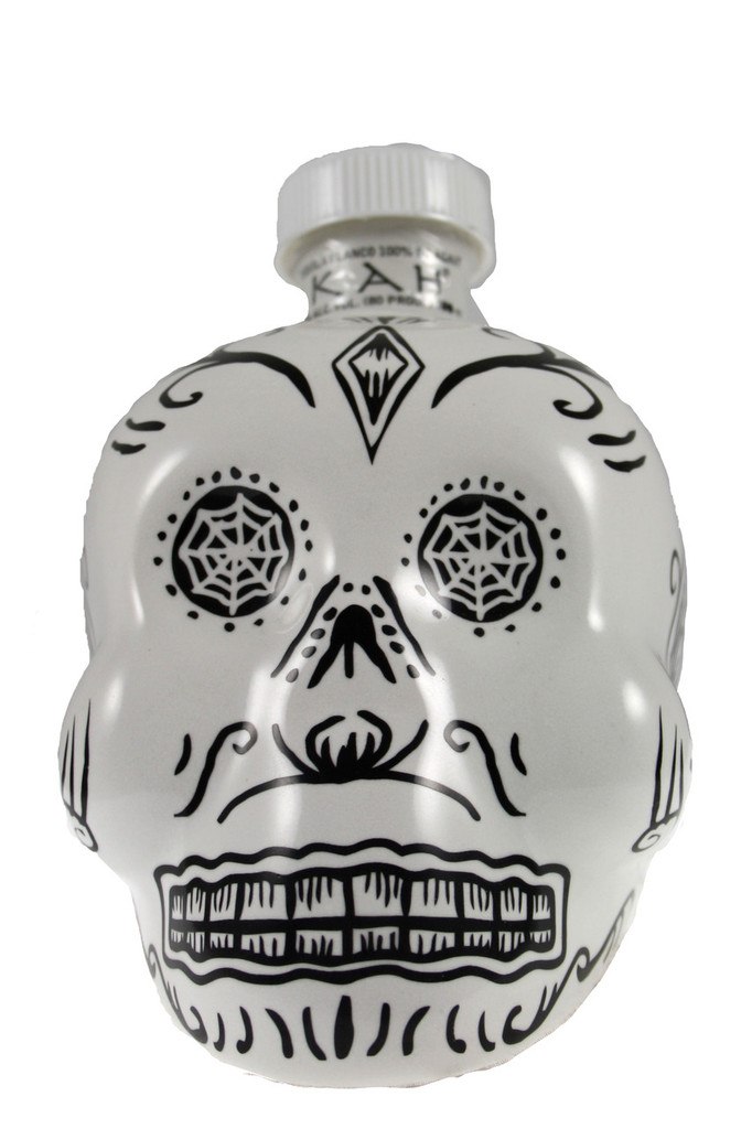 The KAH Tequila Blanco bottle was inspired by traditional Calaveras (skulls made from sugar) which are used in Day of the Dead rituals to symbolize death and rebirth.