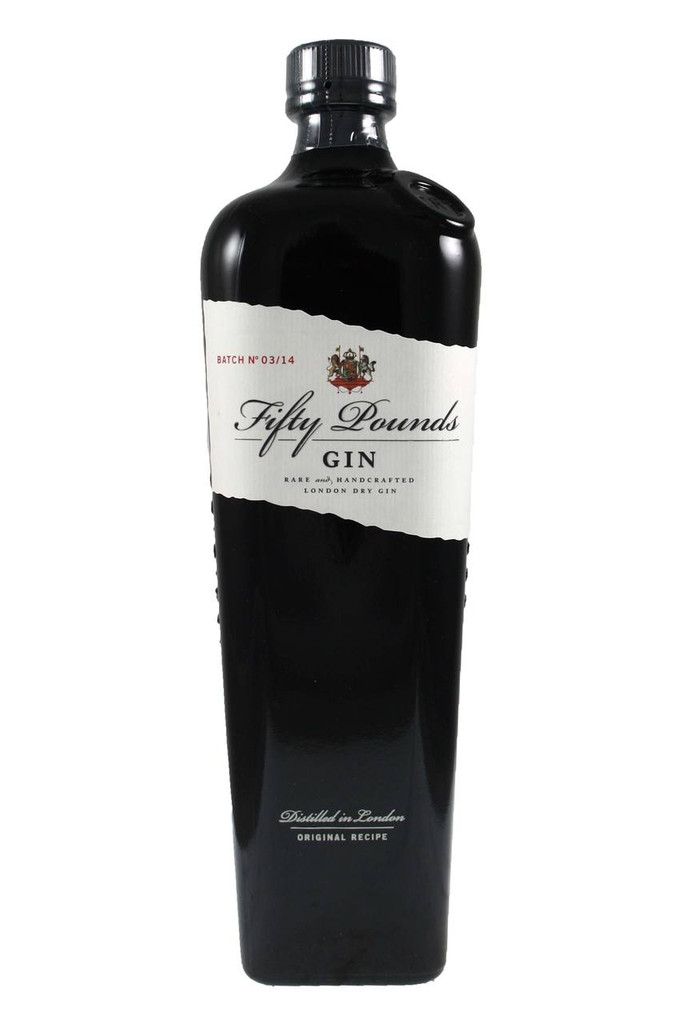 Pounds Gin is presented in an exclusive bottle, with a design inspired by the first gin bottles