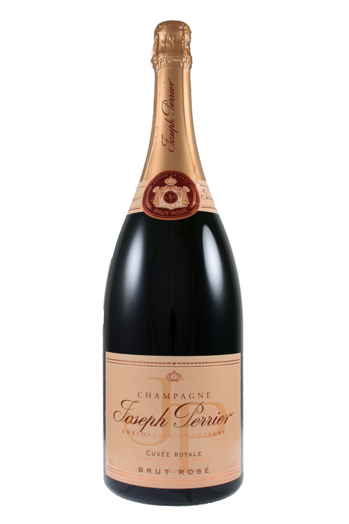 Joseph Perrier Rosé Magnum Champagne.  This elegant Rosé has delicate red fruit notes, a fine mousse and fresh, dry flavours.