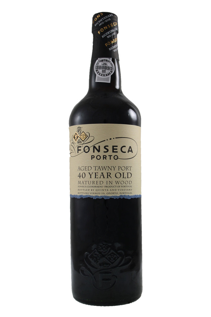 Fonseca 40 Year Old is a unique tawny port of great age with the characteristic olive ochre colour of the very oldest ports matured in cask.