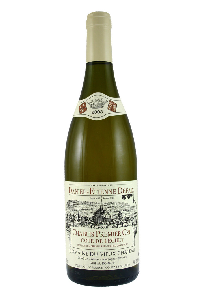 Daniel Defaix makes delicious Chablis that he only releases when fully mature.