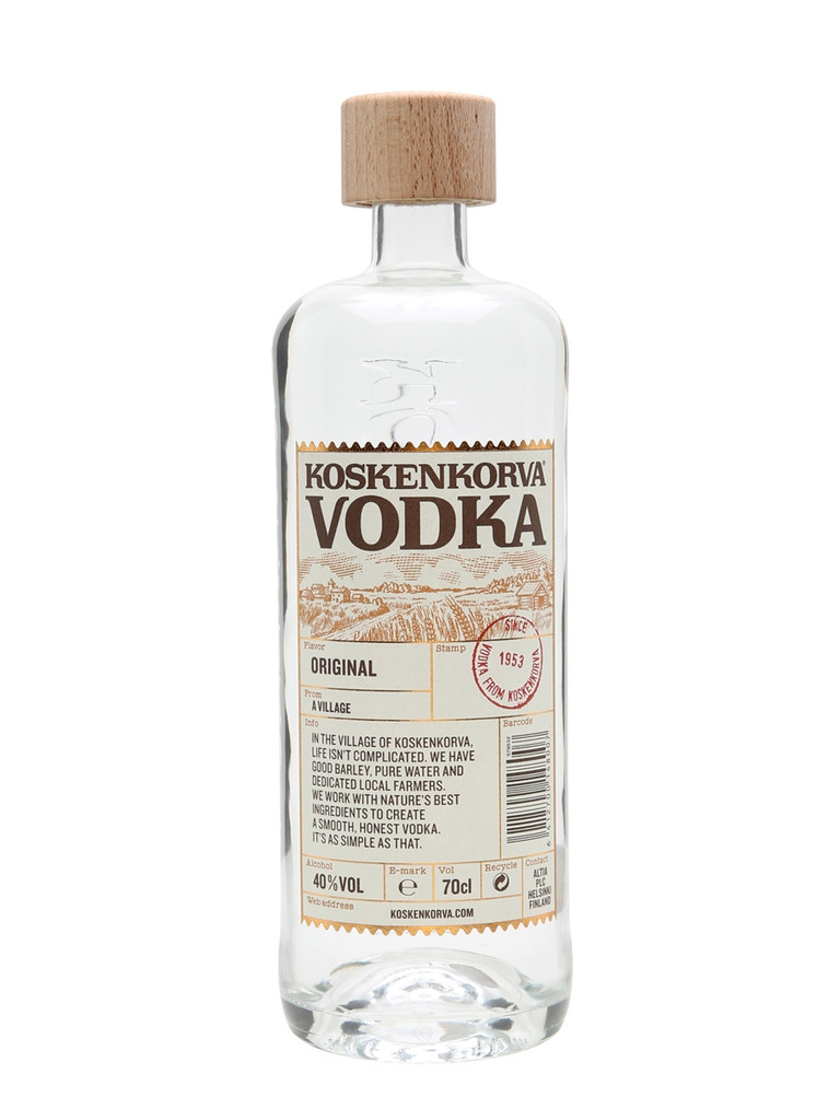 A high quality, smooth, pure clear vodka from Finland that has been distilled over 250 times.