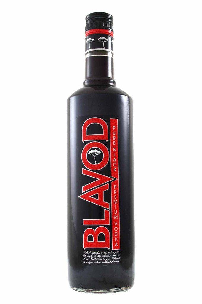 The colour of Blavod Pure Black Vodka is changed by adding catechu, a herb found in southern Asia and central and east Africa. Rich in tannin, catechu has no effect on vodka's flavour. However, many say it makes the vodka a little smoother.