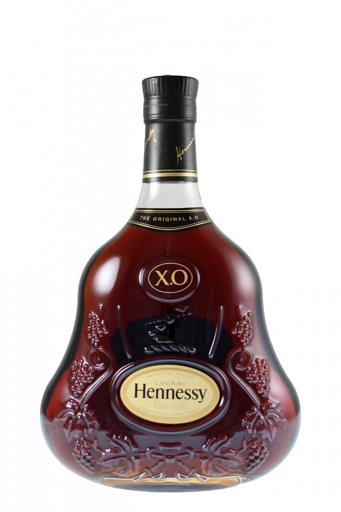Hennessy X.O. Cognac the first extra old cognac, is powerful, masculine and generous - a genuine pleasure. Hennessy X.O. Cognac releases woody, spicy aromas. Now an established symbol of luxury, Hennessy X.O. Cognac rich character is enhanced by a distinctive decanter designed in 1947.