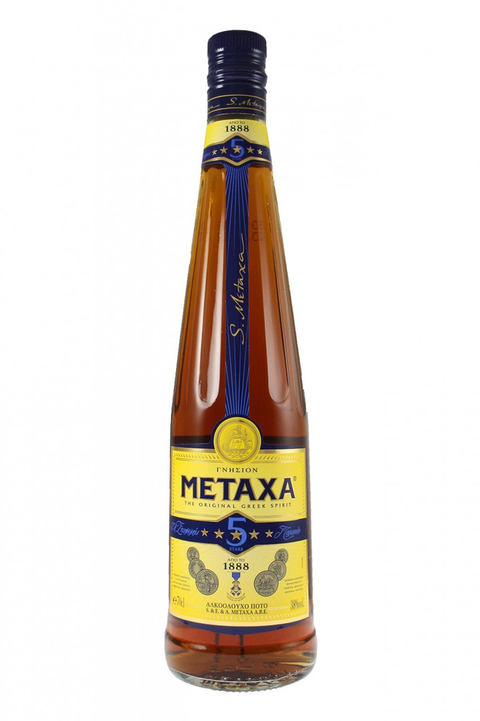 Metaxa is a spirit that is rooted in Greek heritage but captures the spirit of the whole Mediterranean region. With a production process distinctly different from that of brandy or a cognac, Metaxa is a spirit in a category of its own. High - quality aged wine distillates and aged Muscat wines, the essence of rose petals and secret botanicals give Metaxa a sweet and mellow taste, smooth texture and delicate aroma.