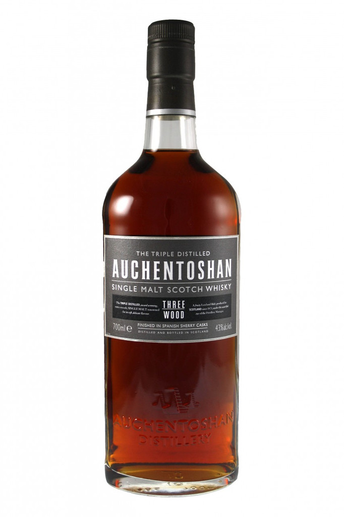 Triple Distilled and matured in American bourbon oak, the whisky is finished in Spanish Oloroso and Pedro Ximenez sherry casks. The result a Lowland single malt whisky rich with dark fruits, thick butterscotch, roasted hazelnuts and the signiture smooth, delicate, Auchentoshan taste.