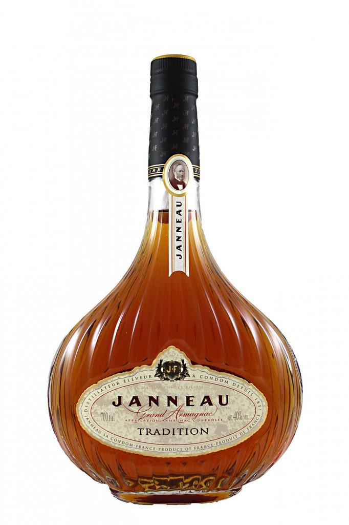 Janneau choose White Wine from the best crus of the Armagnac Region and distill them with infinate care. They are then matured in casks of Gascon Oak Janneau have been practising this from father to son for 150 years. Founded in 1851 by Pierre Etienne Janneau, Janneau is the oldest of the great Houses of Armagnac and the most awarded armagnac in the world. Janneau's vast stocks and unparalleled collection of old Armagnacs enables the skilful blending of several different Armagnacs to create consistent, award-winning styles. An elegant, golden, warm spirit, which has a sweet and welcoming nose followed by notes of prunes and vanilla. This Armagnac is produced entirely from double pot still distillation at Janneau' unique distillery in Condom, Gers. The subtle hint of liquorice in the long finish is characteristic of the originality of the Janneau style.