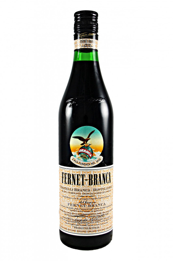 The International bitters. Since the year 1845 the secret formula of Fernet-Branca has been based on an infusion from a unique blend of selected blossoms and rare aromatic herbs, carefully aged in historic Branca cellars.