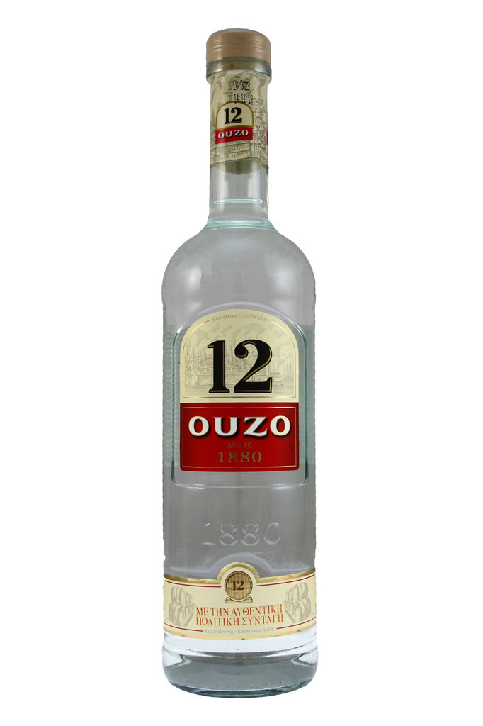 Anise flavoured spirit traditionally drunk with water, becoming cloudy white, sometimes with a faint blue tinge, and served with ice cubes in a small glass. Ouzo can also be drunk straight from a shot glass.