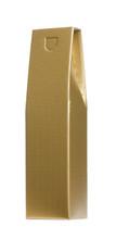 Golden presentation bottle gift box.