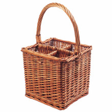 It makes a great wicker basket gift; make up a 4 bottle gift selection of wines or champagne and wrap in cellophane, finish off with a beautiful bow or ribbon.