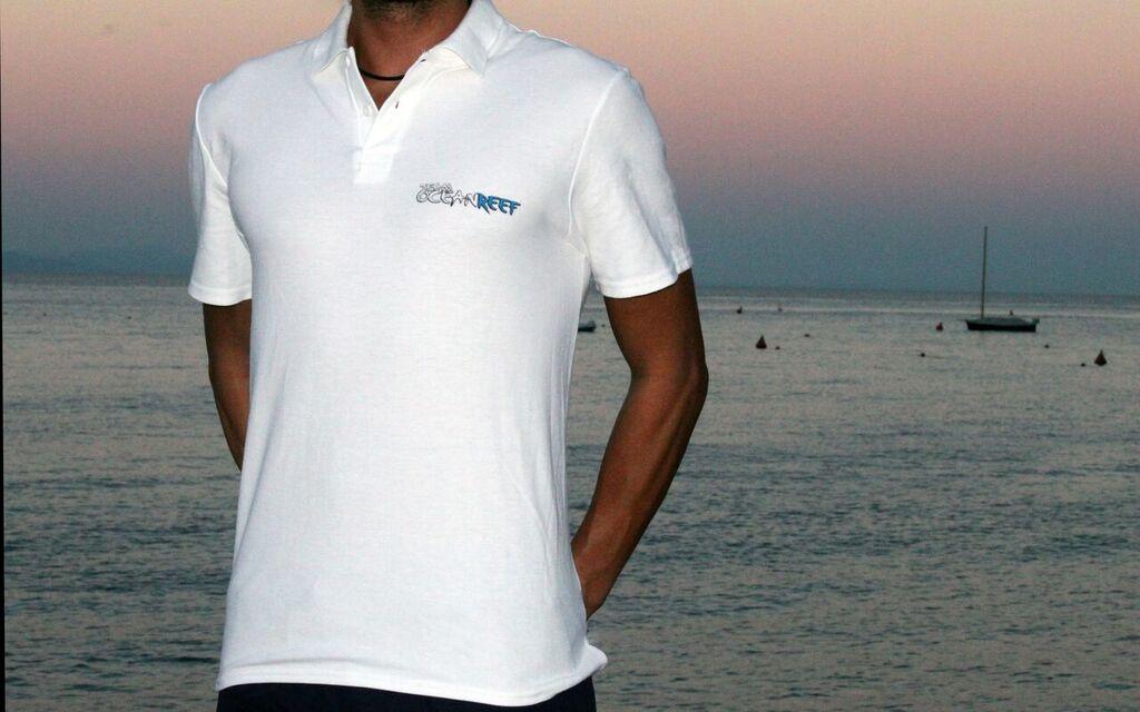 Men's White Team OceanReef Polo