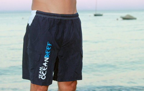 MEN'S Navy/White Team OCEANREEF Swimshorts