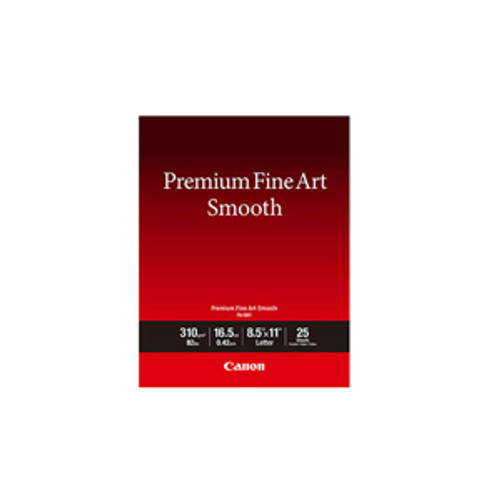 "Canon 8.5"" x 11"" Premium Fine Art Smooth Paper"