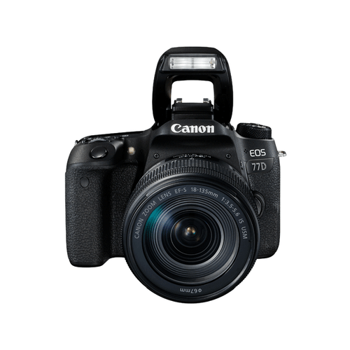 Canon EOS 77D 18-135mm IS USM kit with 55-250mm IS STM & CS100 Bundle