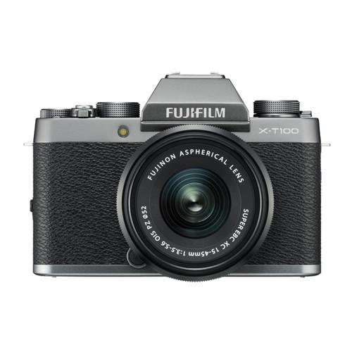 Fujifilm X-T100 Kit with XC15-45mm PZ Lens Dark Silver
