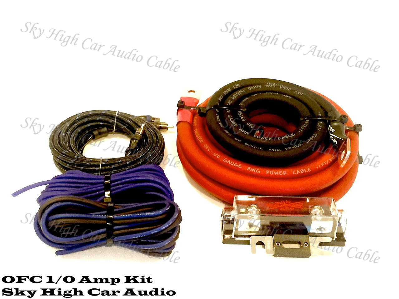 Sky High Car Audio 1 0 Ofc Amp Kit Pro 4 Gauge Amplifier Install Wiring Complete Cables