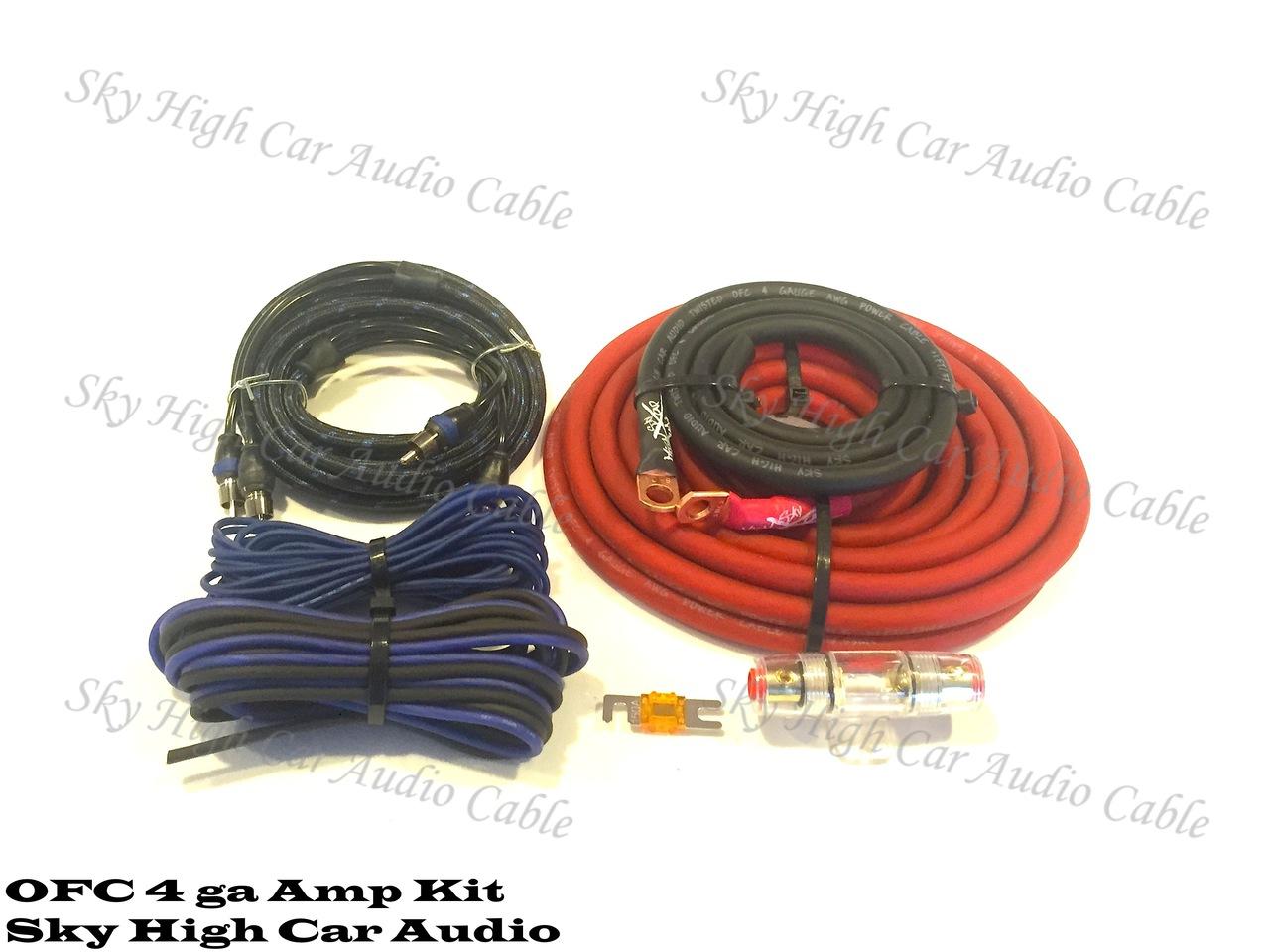 Sky High Car Audio 4 Ofc Amp Kit Ampkit4 Gauge Contaq Amplifier Wiring Lanzar Installation Parts
