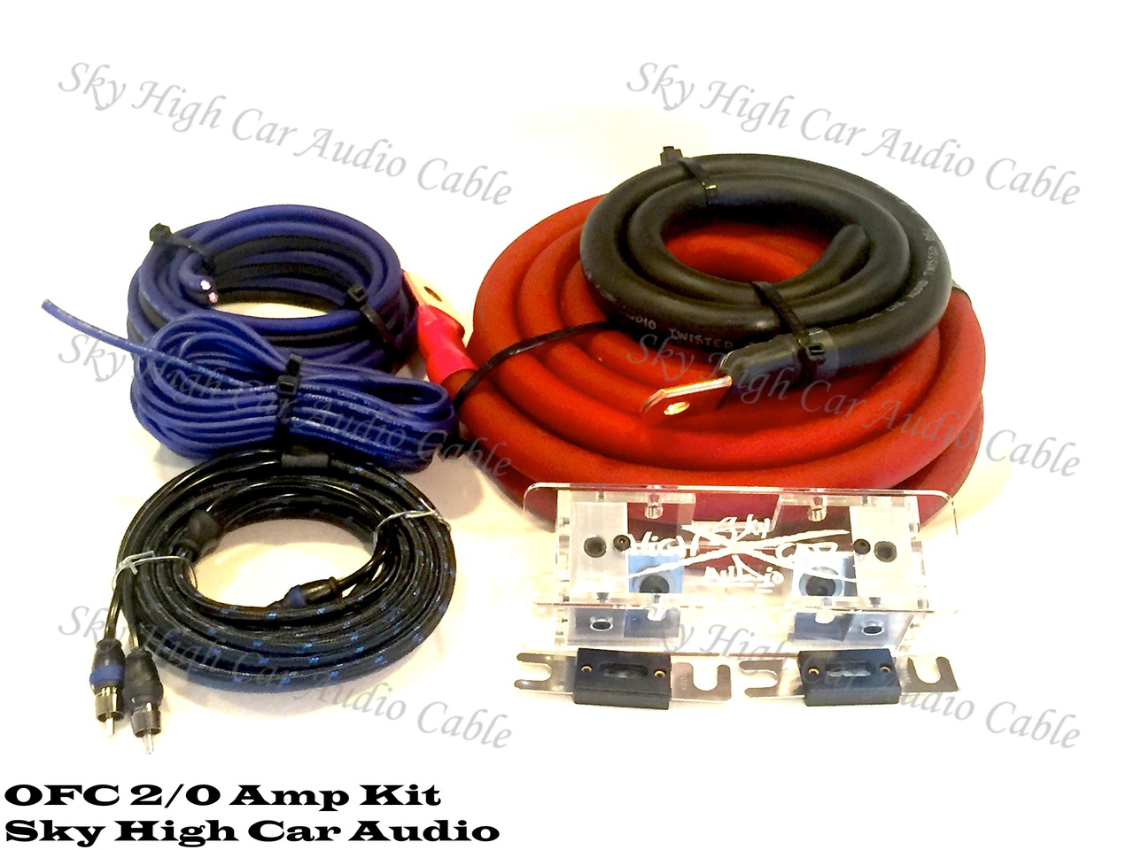Sky High Car Audio 2 0 Ofc Amp Kit Pro 4 Gauge Amplifier Install Wiring Complete Cables