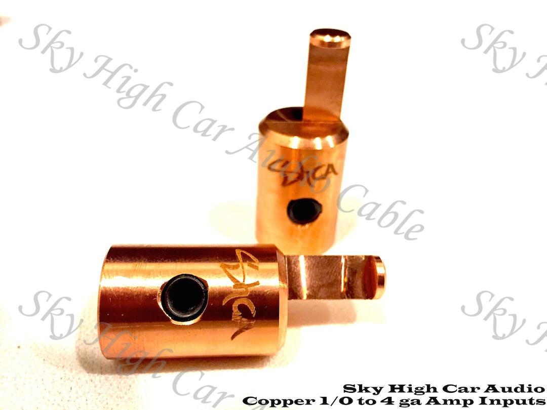 Copper Sky High Car Audio Copper 1/0 to 4ga Reducers