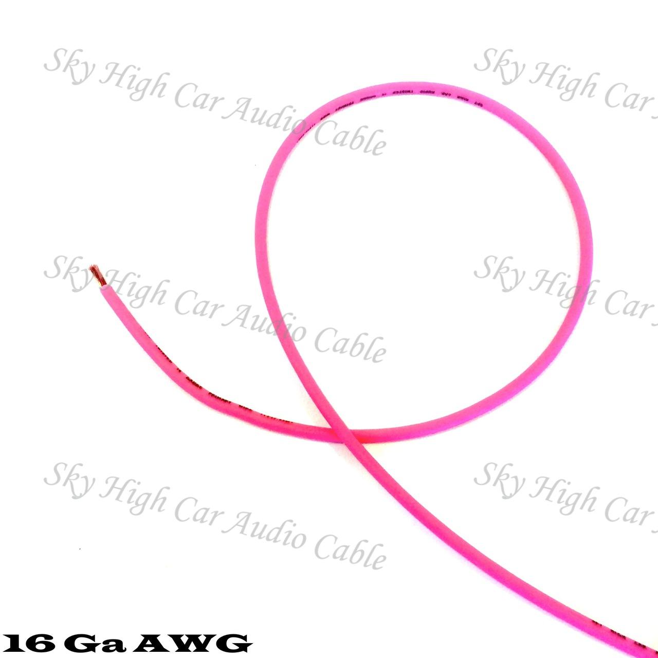 Sky High Car Audio CCA 16 Gauge Primary Wire 25ft-500ft