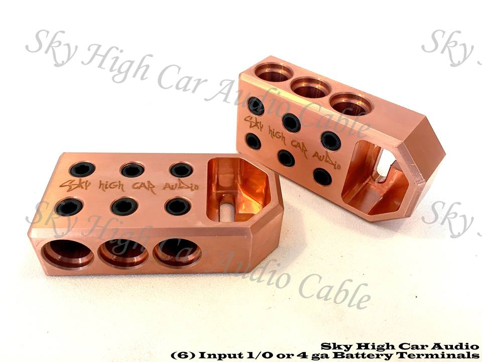 Copper Sky High Car Audio 6 - 1/0 Copper Battery Terminals