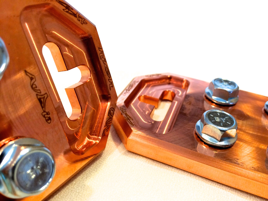 Copper Sky High Car Audio Flat 4 Spot Battery Terminals