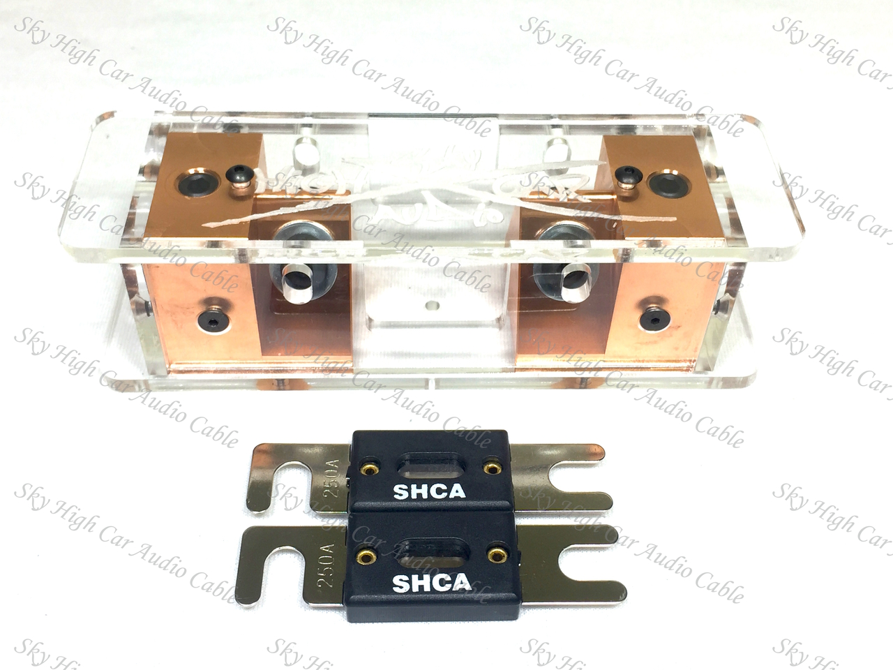 Sky High Car Audio Copper 2/0 ANL Fuse Holder - Set Screw