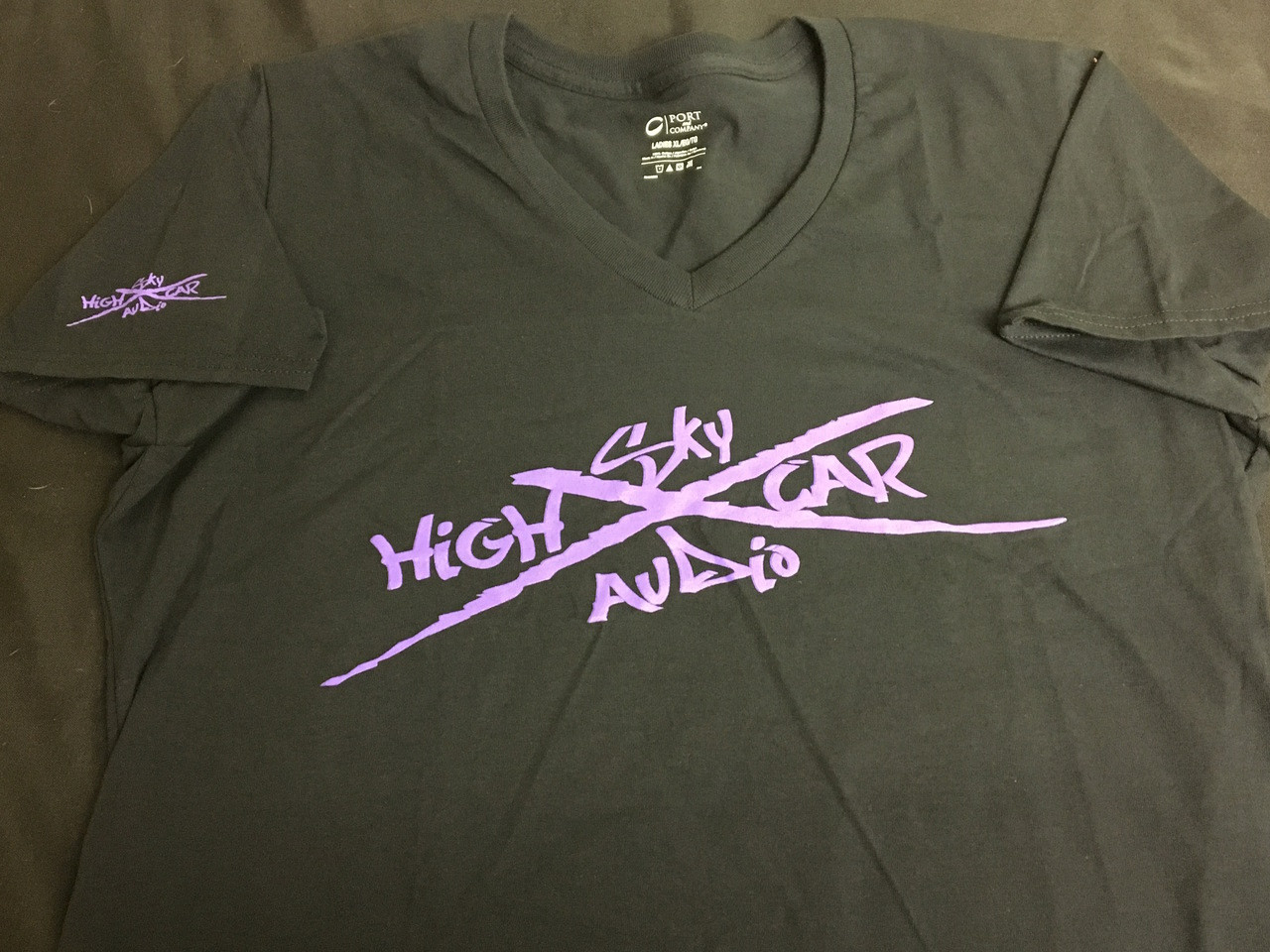 SHCA Female X Logo T-Shirt Black w/ Purple Logo