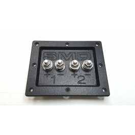 "SMD 2 Channel Heavy Duty Speaker Terminal (Stainless) (3/4"" PVC Black)"