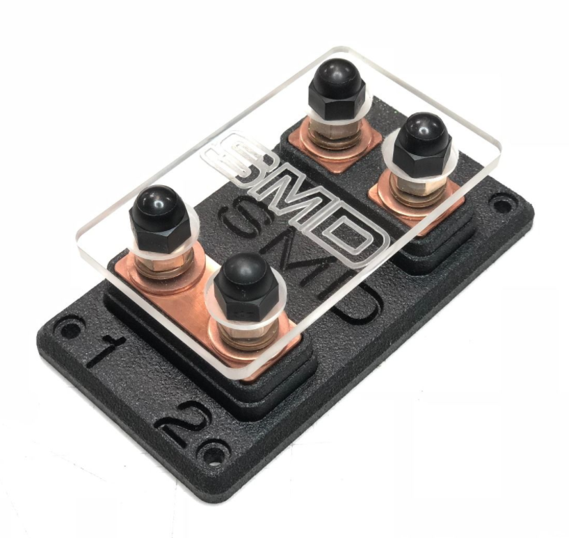 SMD Heavy Duty Double ANL Fuse Block Copper