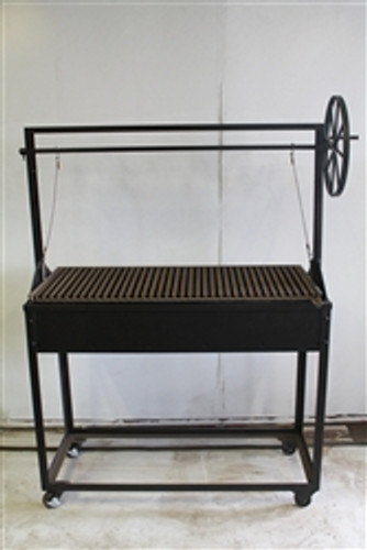 Charcoal Grill with Adjustable Grill Grate and Wheel - The Olive