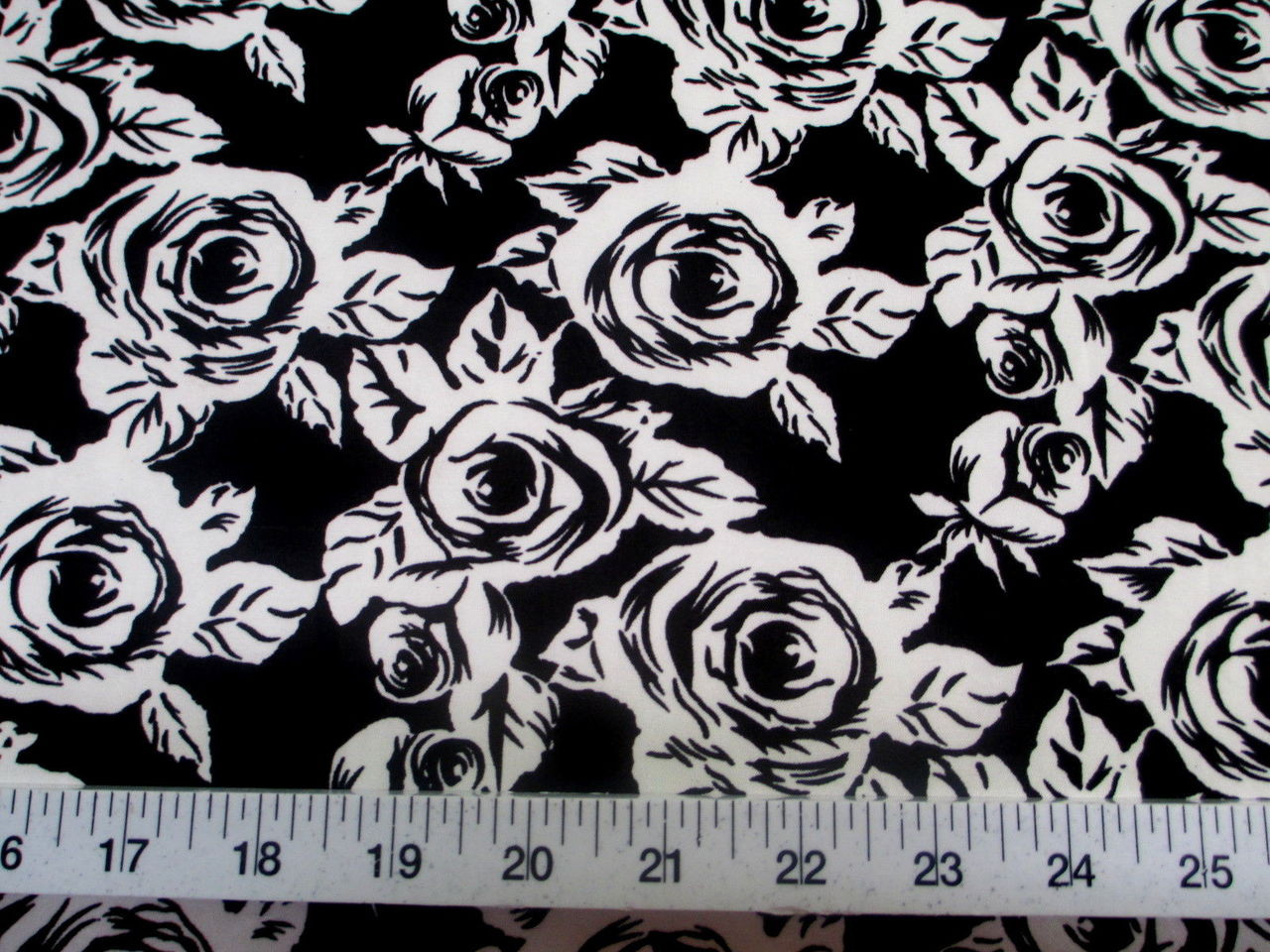 Printed lycra spandex stretch black white small rose floral discount fabric printed lycra spandex stretch black white small rose floral 300d mightylinksfo