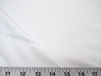 Discount Fabric Antique Satin White 3 Pass Blackout Curtain Drapery 13DR