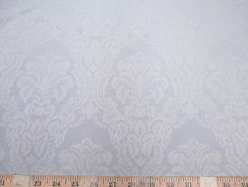 Discount Tablecloth Fabric 75 inches wide Jacquard Damask Floral Dove Gray 48DR