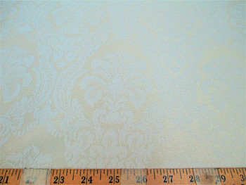 Discount Tablecloth Fabric 72 inches wide Jacquard Damask Floral Ivory 49DR