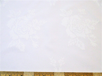 Discount Fabric Upholstery Drapery Twill Jacquard All Over Rose White 51DR
