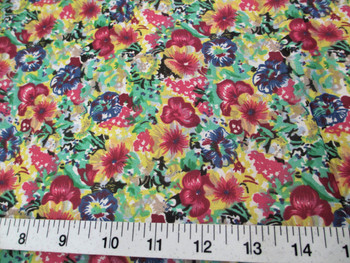 Discount Fabric Quilting Cotton Bold Multi Colored Floral 408K